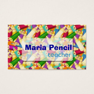 Cute Colorful Color Pencil Business Card