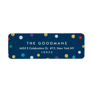 Cute Colorful Confetti Holiday / Party Label