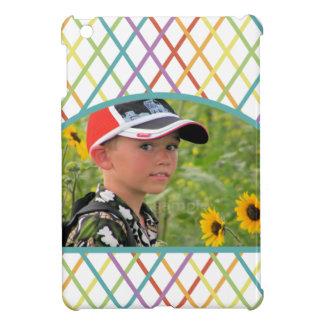 Cute Colorful CrissCross Custom Photo Cover For The iPad Mini