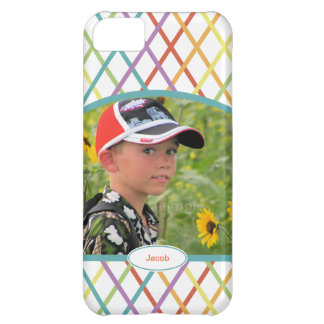 Cute Colorful CrissCross Personalized Custom Photo Case For iPhone 5C