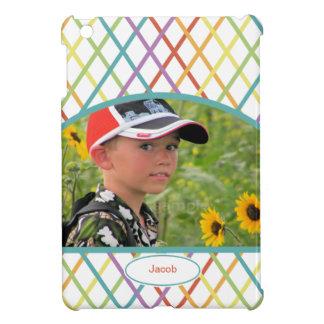 Cute Colorful CrissCross Personalized Photo iPad Mini Cases