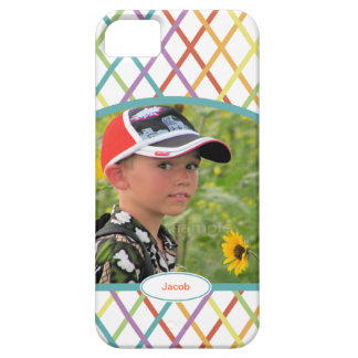 Cute Colorful CrissCross Personalized Photo iPhone 5 Cover