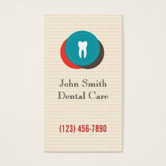 Cute Colorful Dental Care Polka Dots Business Card