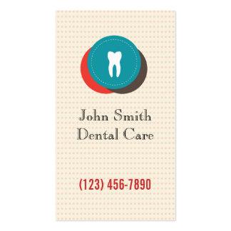 Cute Colorful Dental Care Polka Dots Business Card