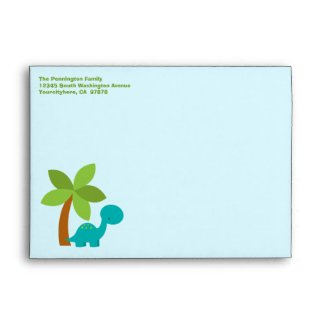 Cute colorful dinosaurs customizable envelope envelope