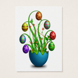 Cute Colorful Easter Egg Tree Business Card
