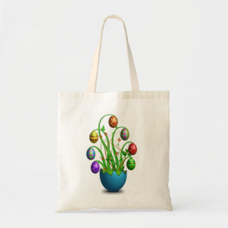 Cute Colorful Easter Egg Tree Tote
