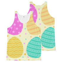 Cute colorful easter eggs pattern All-Over-Print tank top