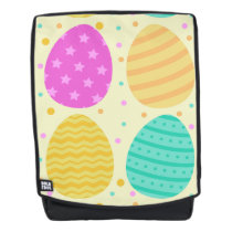 Cute colorful easter eggs pattern backpack