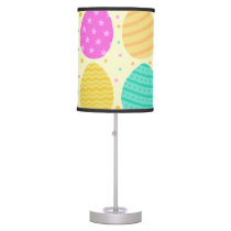 Cute colorful easter eggs pattern desk lamp