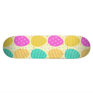 Cute colorful easter eggs pattern skateboard deck