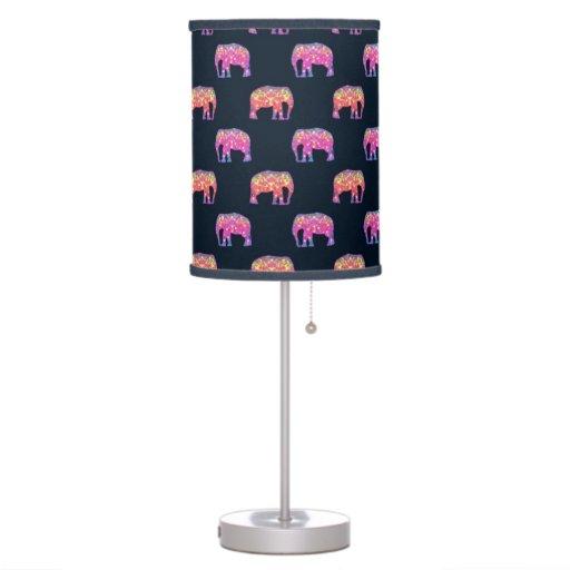 Cute Colorful Elephants Table Lamp