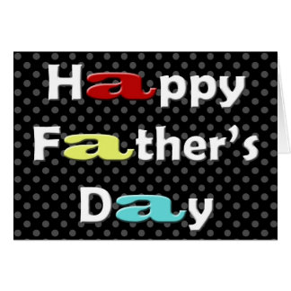 cute colorful Father's Day greetings Greeting Card