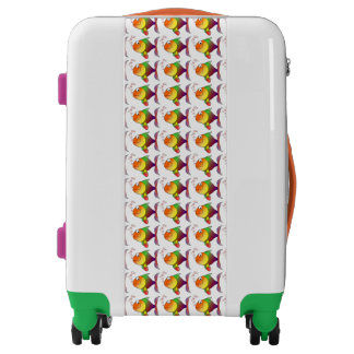 Cute colorful fish carryon luggage