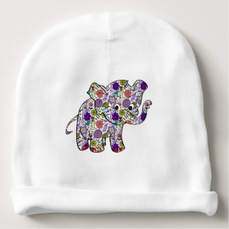 Cute Colorful Floral Baby Elephant Baby Beanie