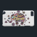 "Cute Colorful Floral Baby Elephant Illustration iPod Touch 5G Case<br><div class=""desc"">Cute colorful floral baby elephant illustration over white circles pattern background. If you need any help customizing any of my designs,  contact ArtOnWear designer. Free text formatting with live help available by request.</div>"