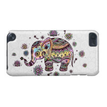 Cute Colorful Floral Baby Elephant Illustration iPod Touch 5G Case