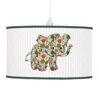 Cute Colorful Floral Baby Elephant