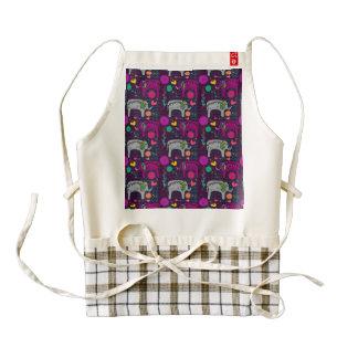 Cute colorful floral hearts elephant pattern zazzle HEART apron