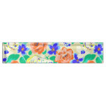Cute colorful floral pattern desk name plate