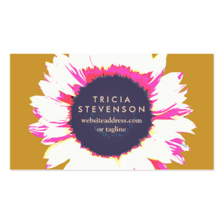 Cute Colorful Floral SunFlower Business Card