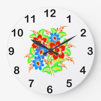 Cute Colorful Floral Wall Clock For Her
