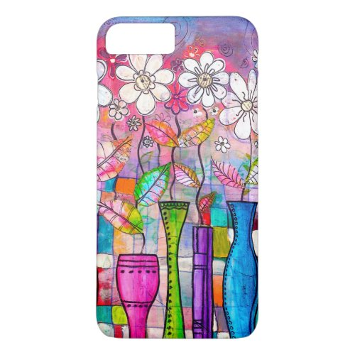 Cute Colorful Flower Drawing Phone Case