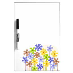 Cute colorful flower garden dry erase board
