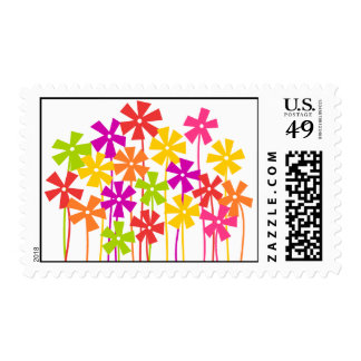 Cute colorful flower garden postage