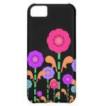 Cute Colorful Flowers Black iPhone 5 Case-Mate