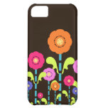 Cute Colorful Flowers Brown iPhone 5 Case-Mate
