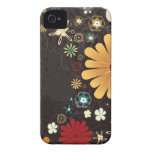 Cute colorful flowers iphone 4 case
