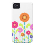 Cute Colorful Flowers white iPhone 4/4S Case-Mate iPhone 4 Case