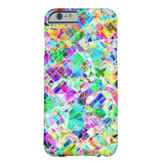 Cute colorful fragments design barely there iPhone 6 case