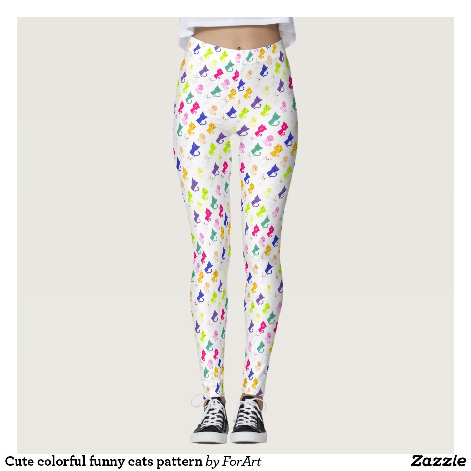 205192e74 Cute colorful funny cats pattern leggings - Yoga Leggings And Exercise  Tights With Beautiful Graphic Designs
