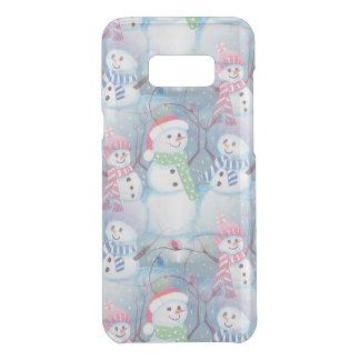 Cute Colorful Funny Winter Season Snowmen Pattern Uncommon Samsung Galaxy S8+ Case