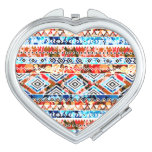 Cute colorful girly aztec patterns makeup mirror
