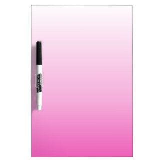 cute colorful girly hot pink fuchsia pink ombre dry erase board