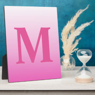 cute colorful girly hot pink fuchsia pink ombre photo plaques