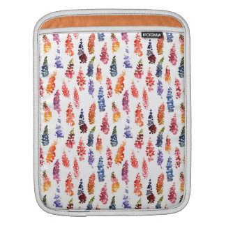 Cute colorful girly lupine flowers pattern sleeves for iPads