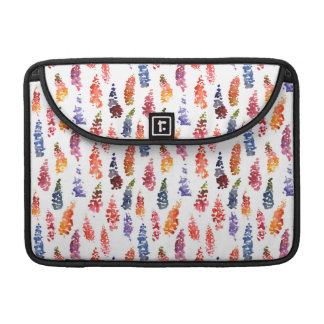 Cute colorful girly lupine flowers pattern sleeves for MacBooks