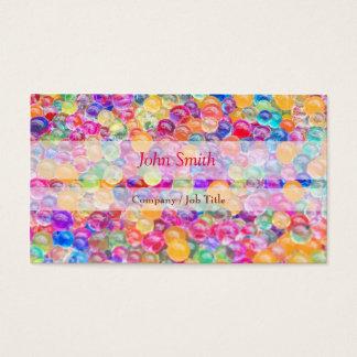 Cute Colorful Glass Balls Beauty makeup Business Card