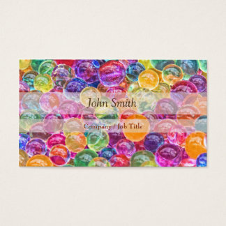 Cute Colorful Glass Balls Girly makeup Business Card