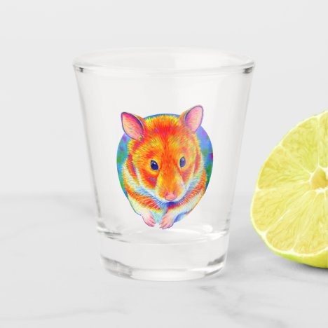 Cute Colorful Hamster Shot Glass