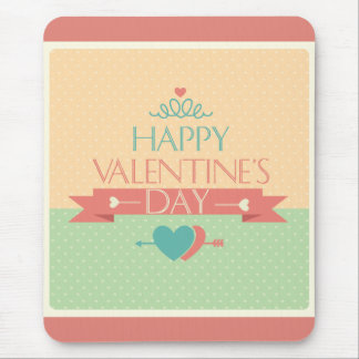 Cute colorful Happy Valentines day design Mouse Pad