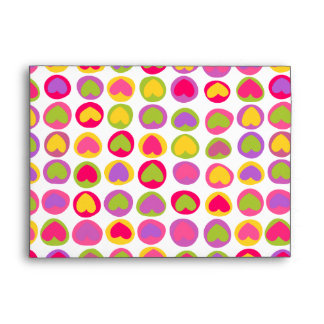 Cute colorful hearts Envelope