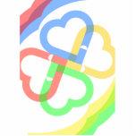 Cute Colorful Hearts Photo Sculpture