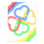 Cute Colorful Hearts Post Card