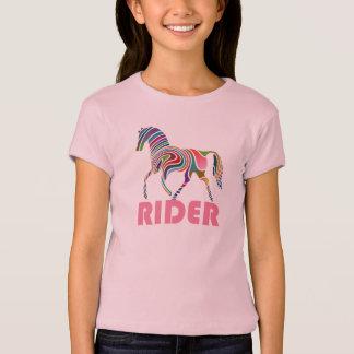 Cute Colorful Horse Rider T-Shirt