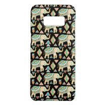 Cute colorful indian elephants pattern Case-Mate samsung galaxy s8 case